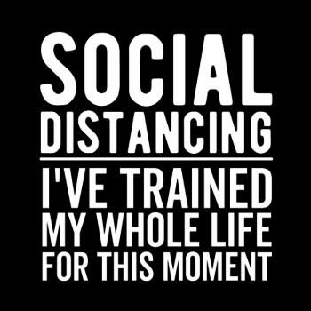 BustedTees: Social Distancing Introvert