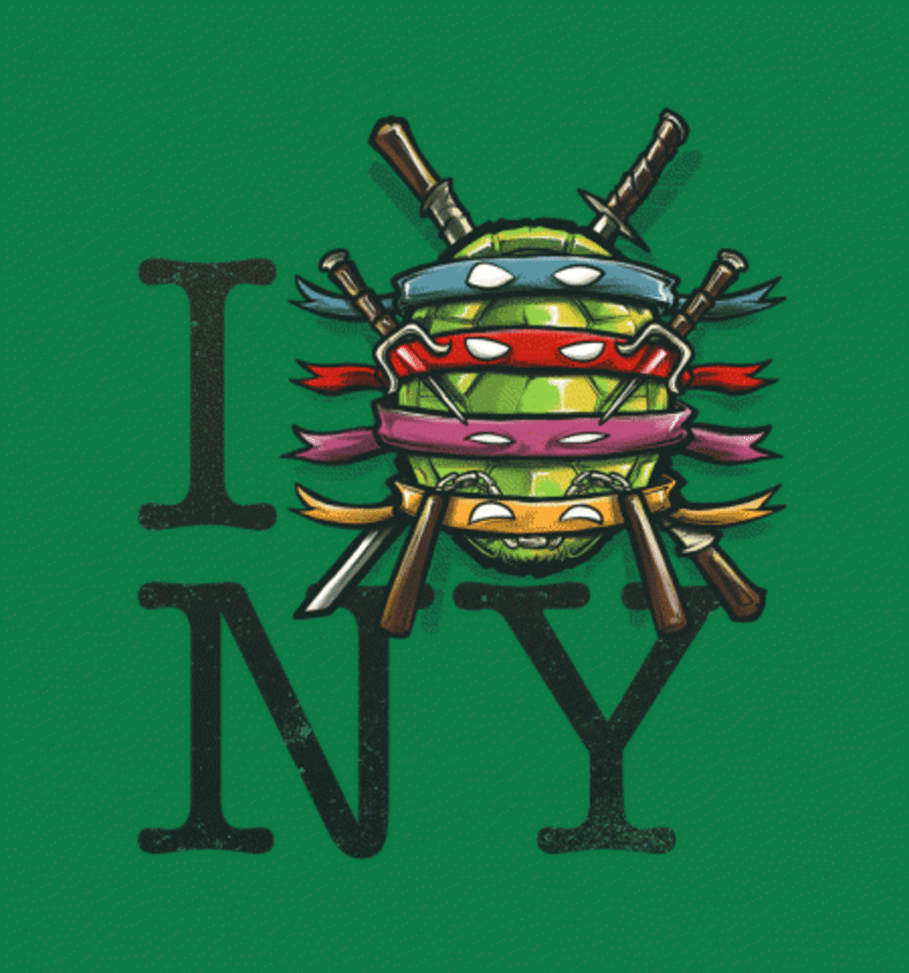 BustedTees: I (Turtle) NY