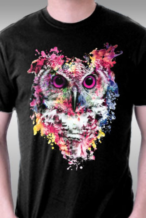 TeeFury: Watercolor Owl