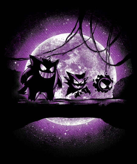 Qwertee: Ghostly Forest