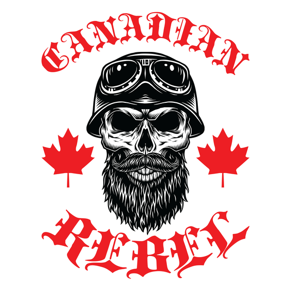 NeatoShop: Canadian Rebel - Motorcycle Rider Skull