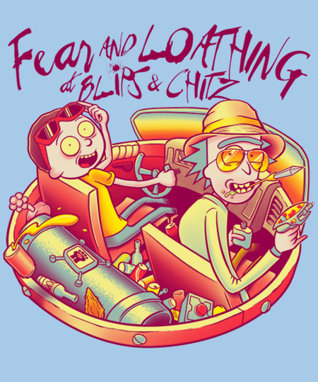 Qwertee: Fear and Loathing at Blips & Chitz