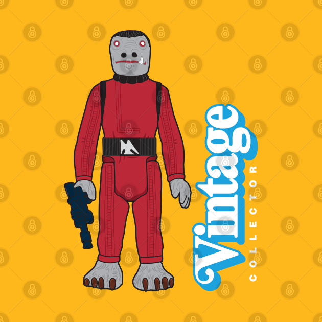 TeePublic: VINTAGE COLLECTOR - RED CANTINA PATRON ACTION FIGURE