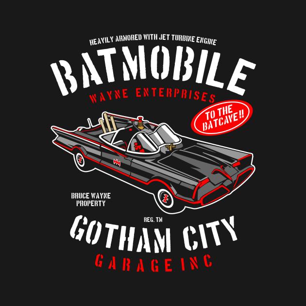 TeePublic: Batman Gotham City Garage