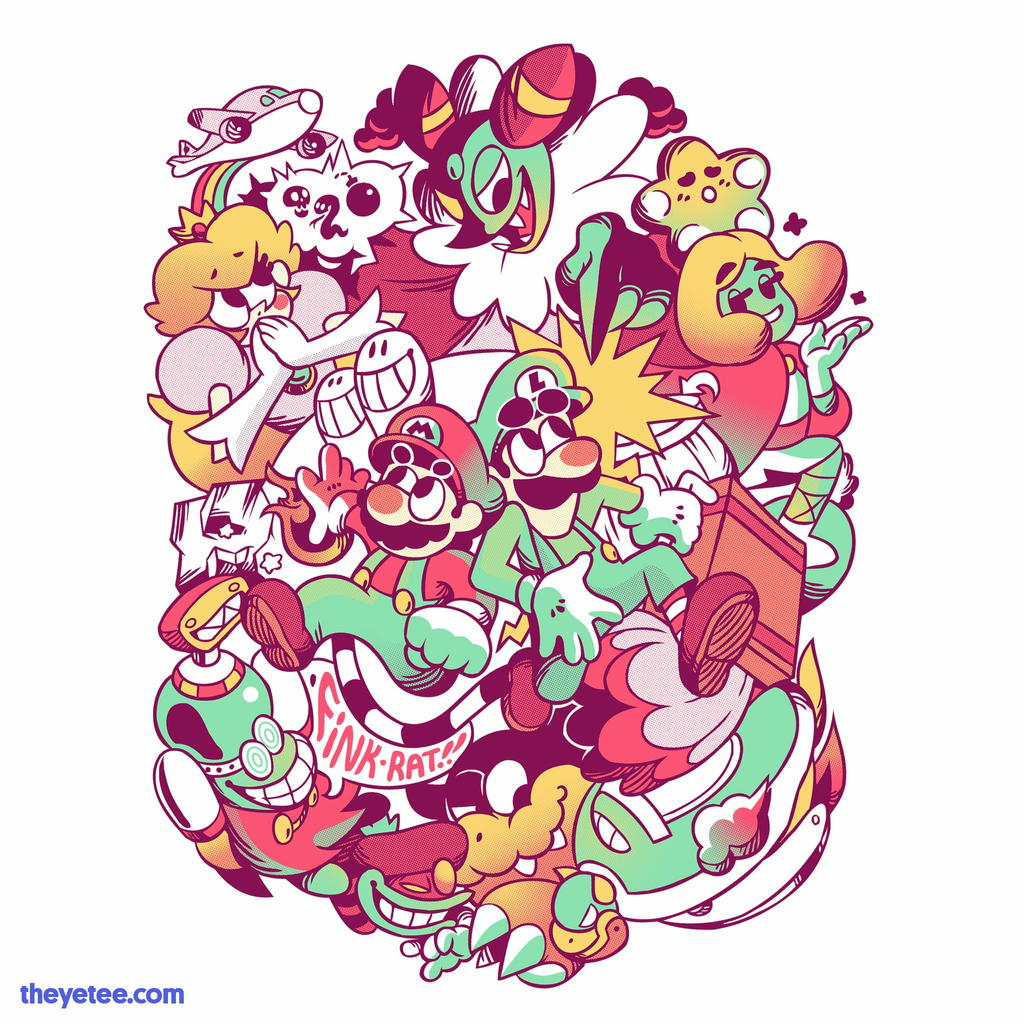 The Yetee: Super Advanced Bros