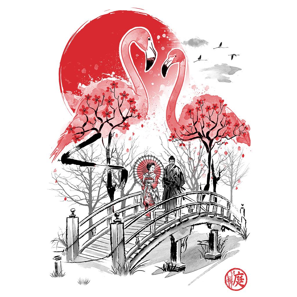 TeeTee: Flamingo Garden