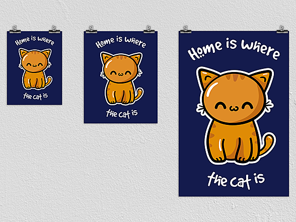 Woot!: Home Cat Poster