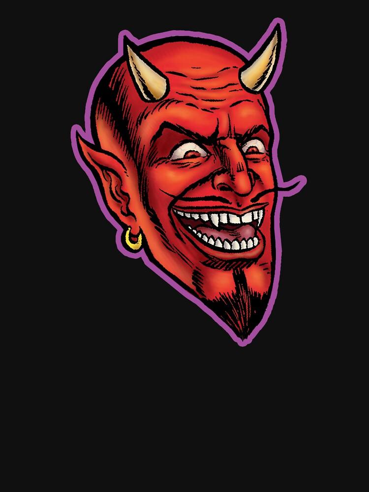 RedBubble: DEVIL HEAD SATAN HORROR GRAPHC