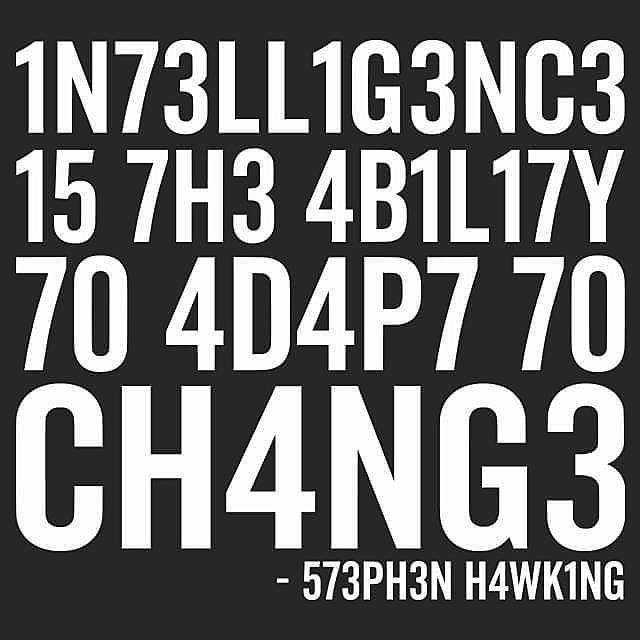Textual Tees: Intelligence Stephen Hawking