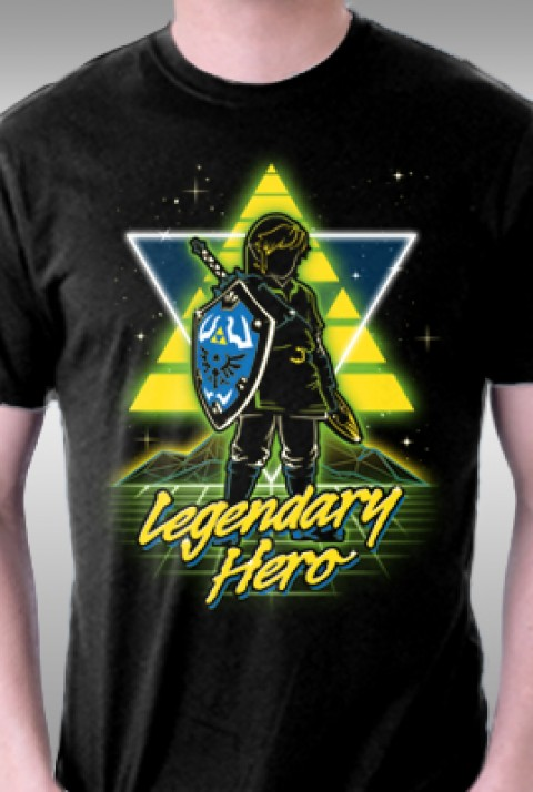 TeeFury: Retro Legendary Hero
