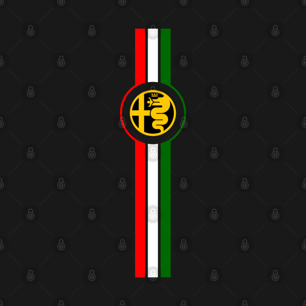 TeePublic: Alfa Romeo Italian Strip