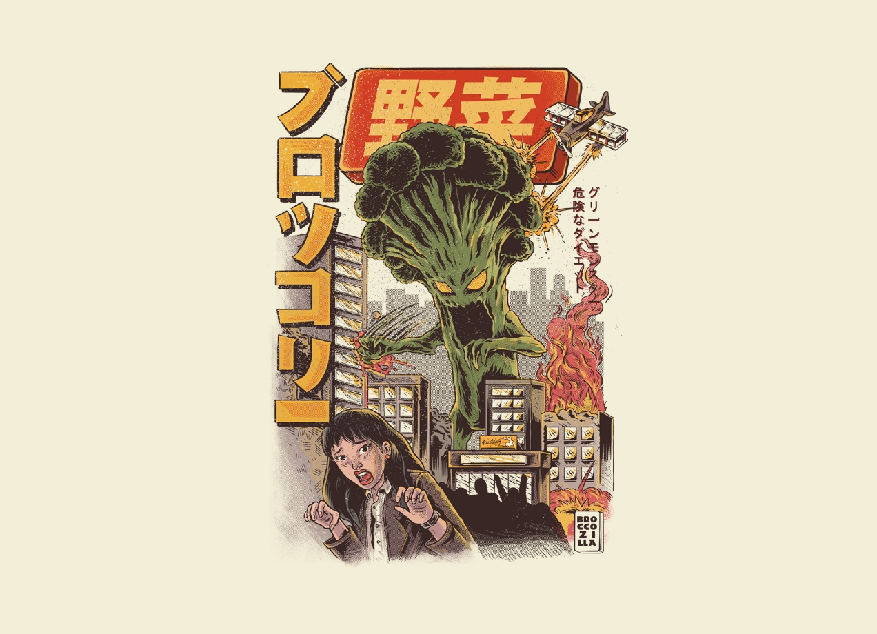 Threadless: The Broccozilla