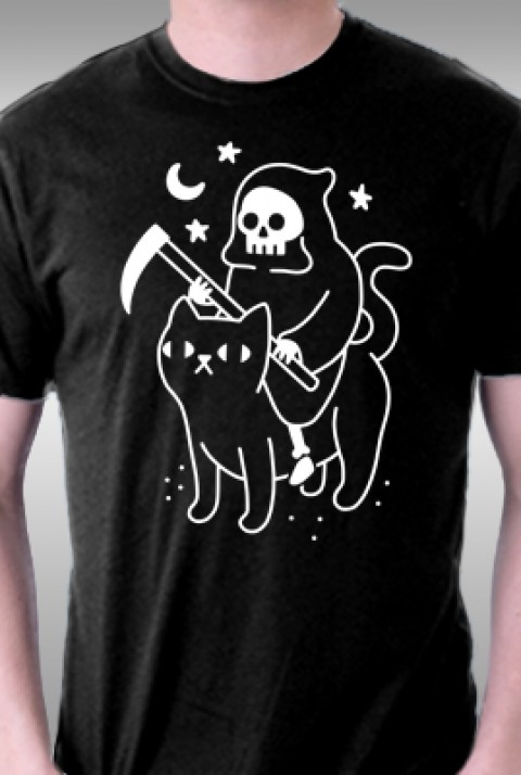 TeeFury: Death Rides A Black Cat