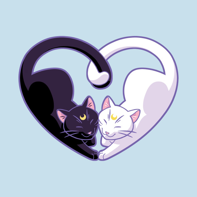 TeePublic: Moon Kitty Love