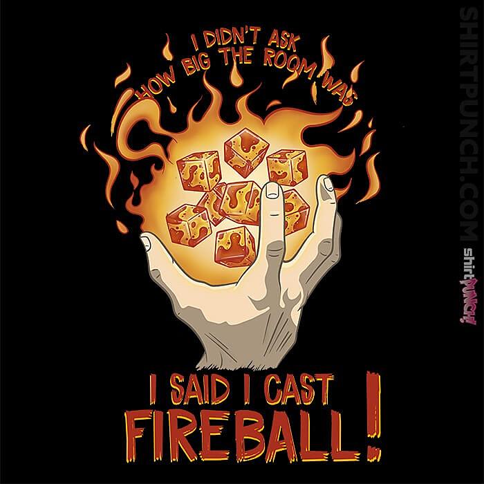 ShirtPunch: I Cast Fireball