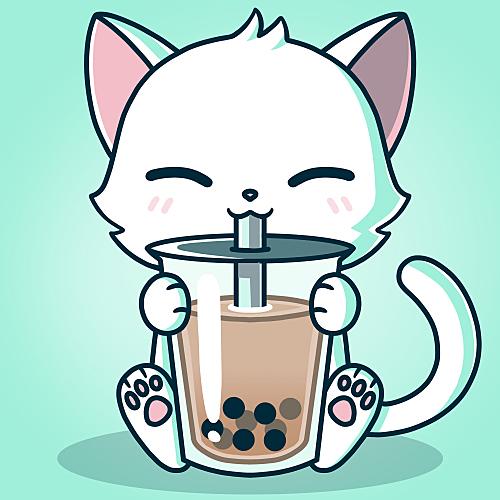 TeeTurtle: Boba Cat