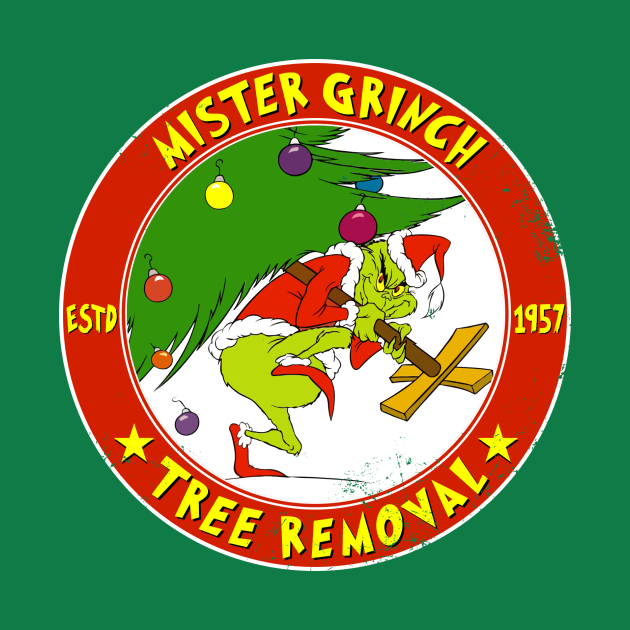 TeePublic: Grinch Tree Removal