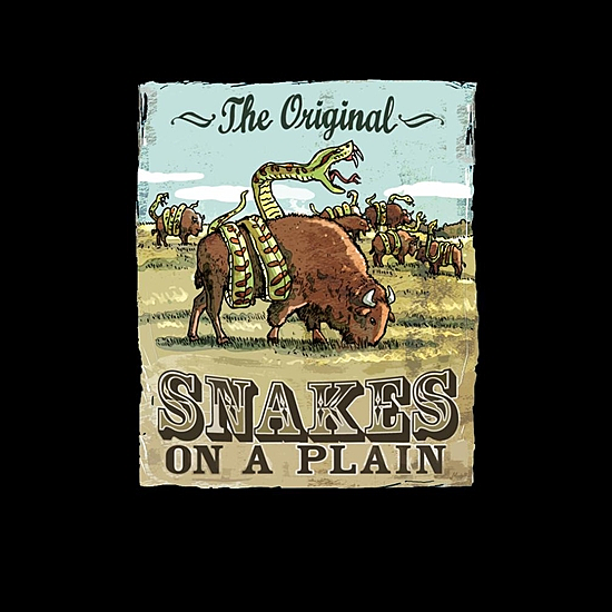 BustedTees: The Original Snakes On A Plain