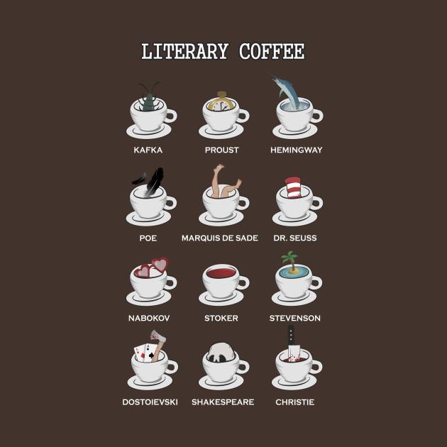 TeePublic: Literary coffee for readers