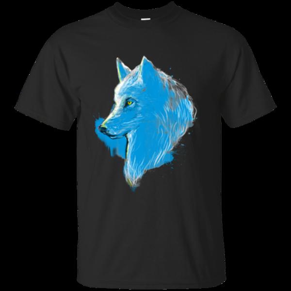 Pop-Up Tee: Sumi wolf blue