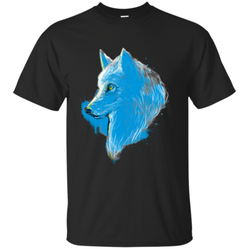 Pop-Up Tee: Sumi wolf blue
