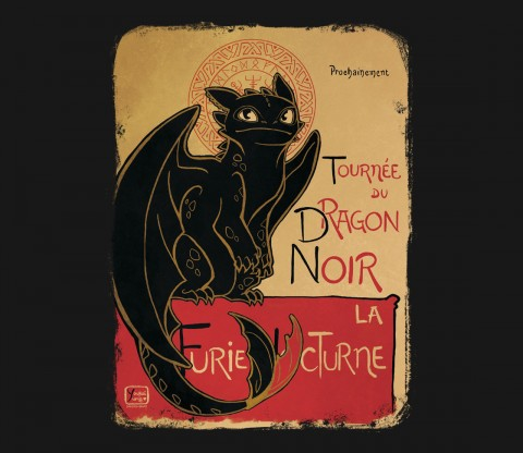 TeeFury: Le Dragon Noir- Exclusive Variant