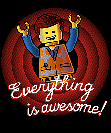 Qwertee: Everything is awesome, folks!