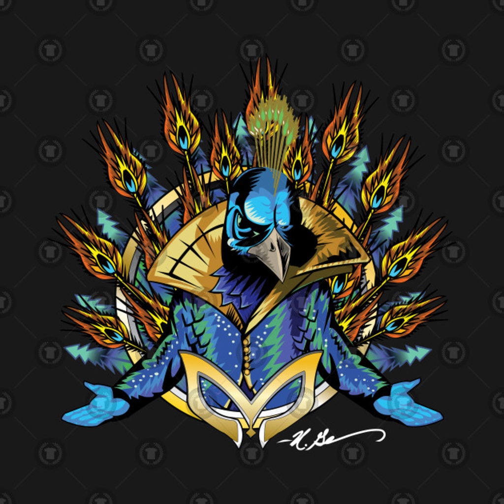 TeePublic: The Masked Peacock (WhiteSig)