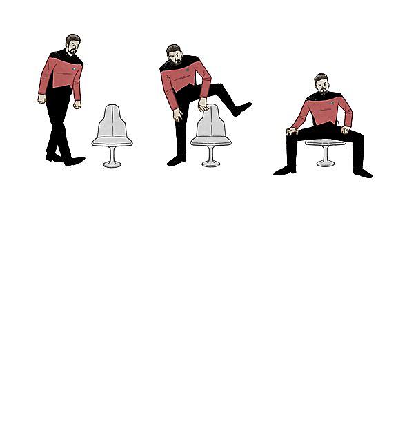 RedBubble: Riker Sitting