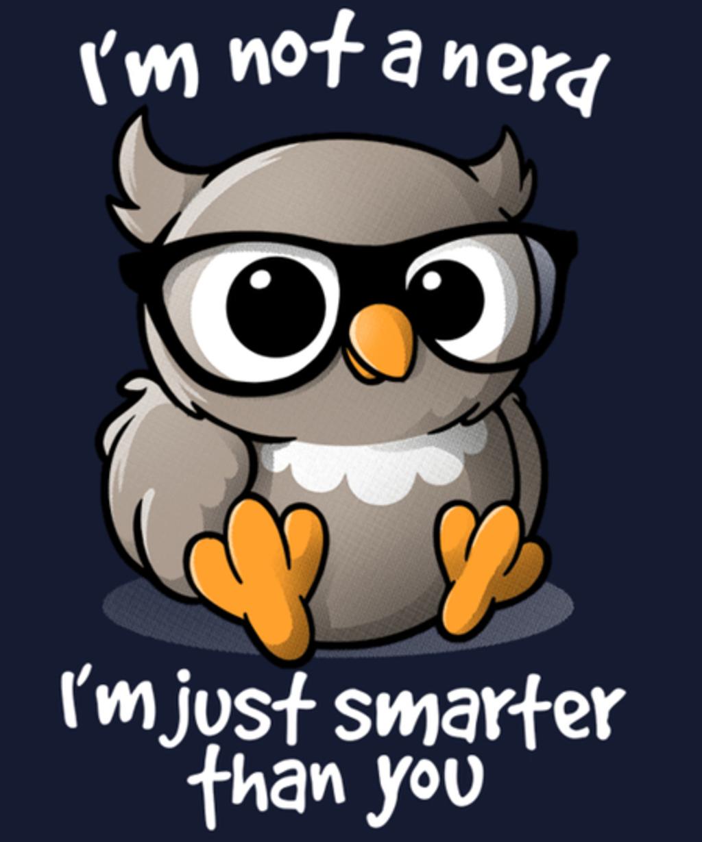 Qwertee: Nerd owl