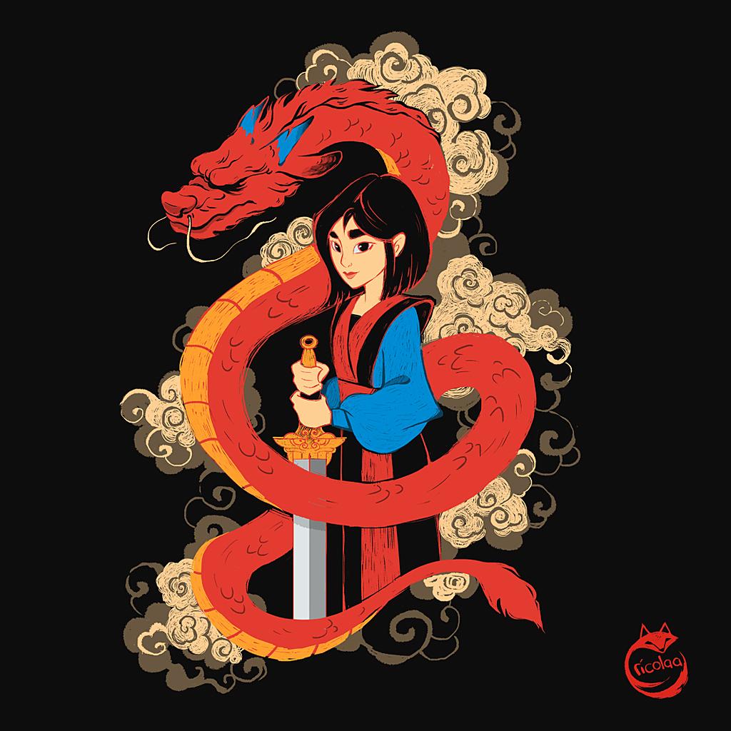 TeeTee: Mulan and the Dragon