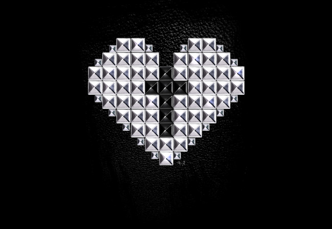 Design by Humans: studded heart and cross