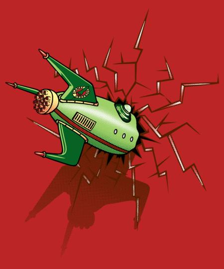 Qwertee: Crash into my t-shirt