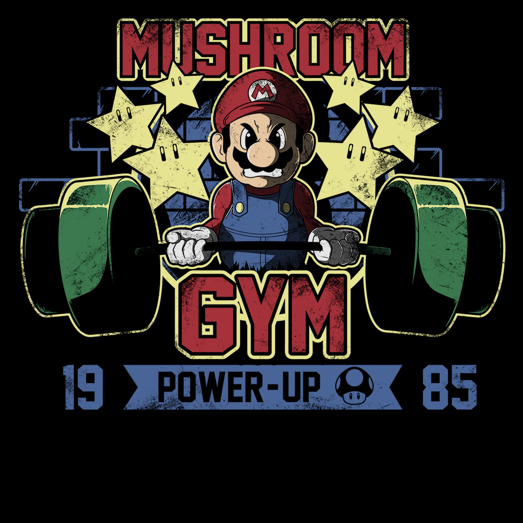 Pop-Up Tee: Mushroom Gym