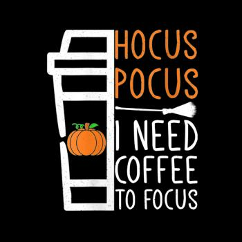 BustedTees: Hocus Pocus I Need Coffee to Focus Kids Shirt