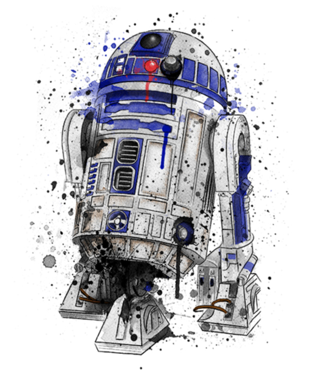 Qwertee: Droid Watercolor