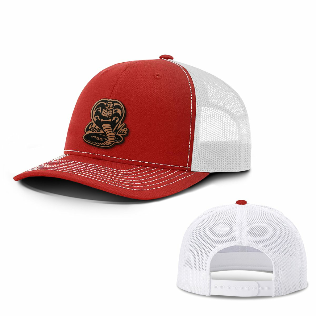BustedTees: Cobra Kai Leather Patch Hat