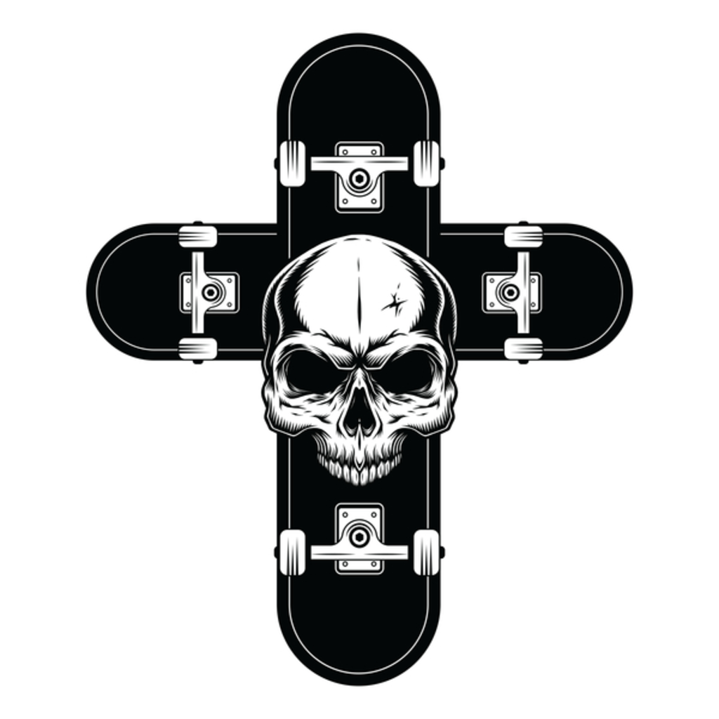 NeatoShop: Skateboard Skull Cross