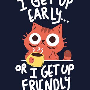 Qwertee: Morning Cat