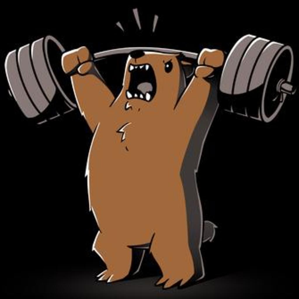 TeeTurtle: Gym Bear