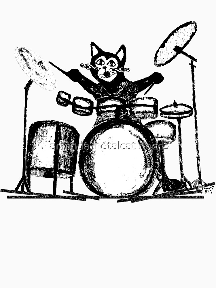 RedBubble: Drummer Cat