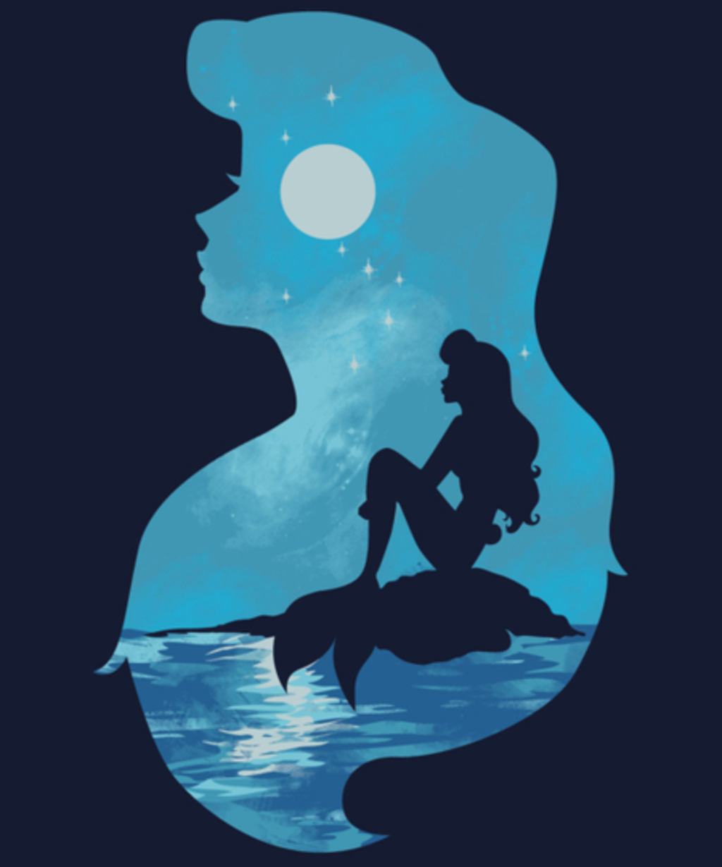 Qwertee: Mermaid portrait