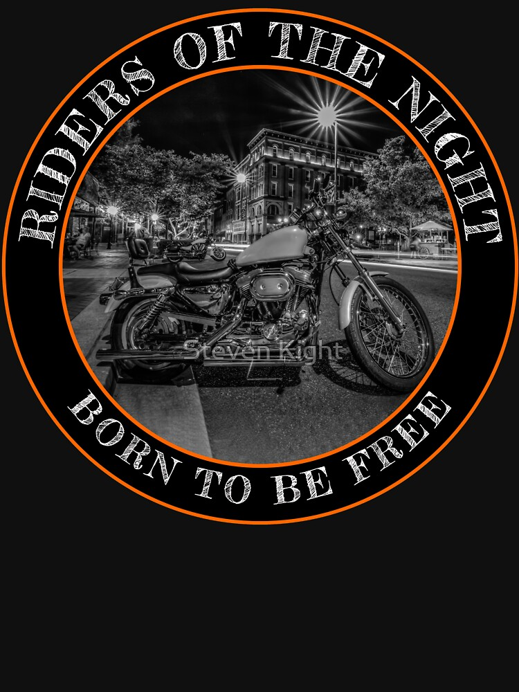 RedBubble: Motorcycle riders of the night, summer night.