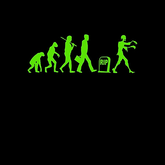 BustedTees: funny zombie evolution