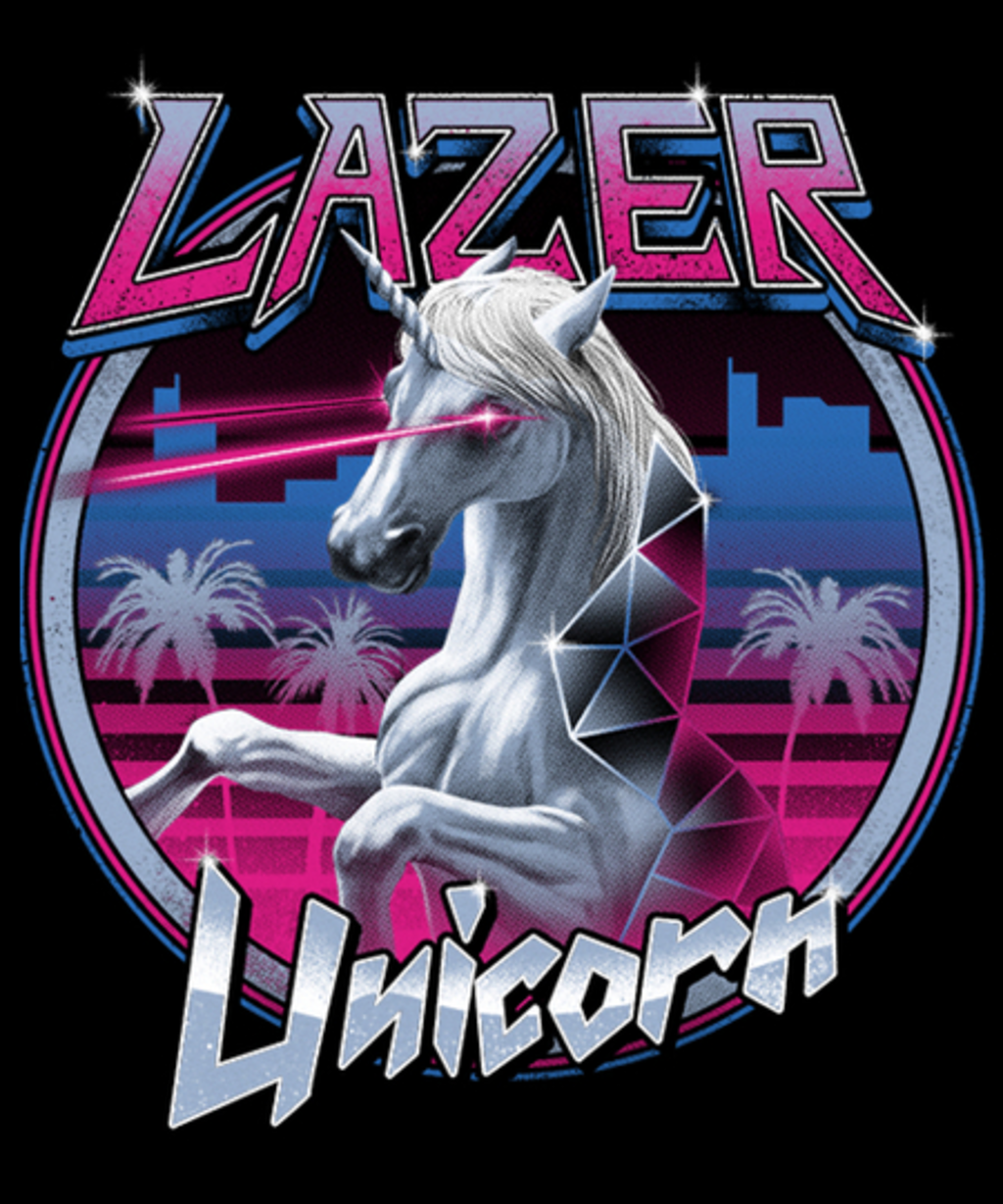 Qwertee: Lazer Unicorn