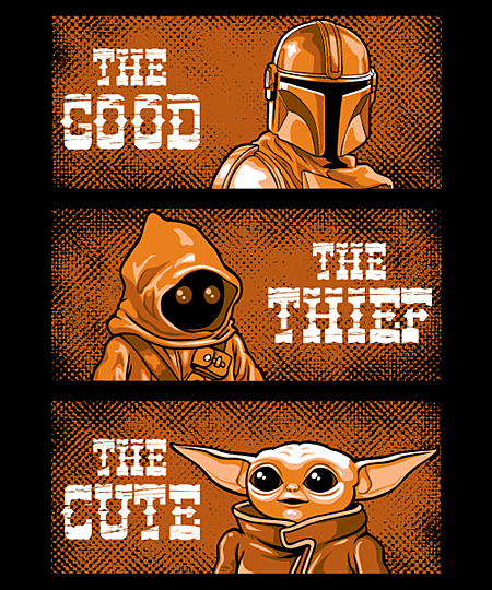 Qwertee: The good the thief the cute