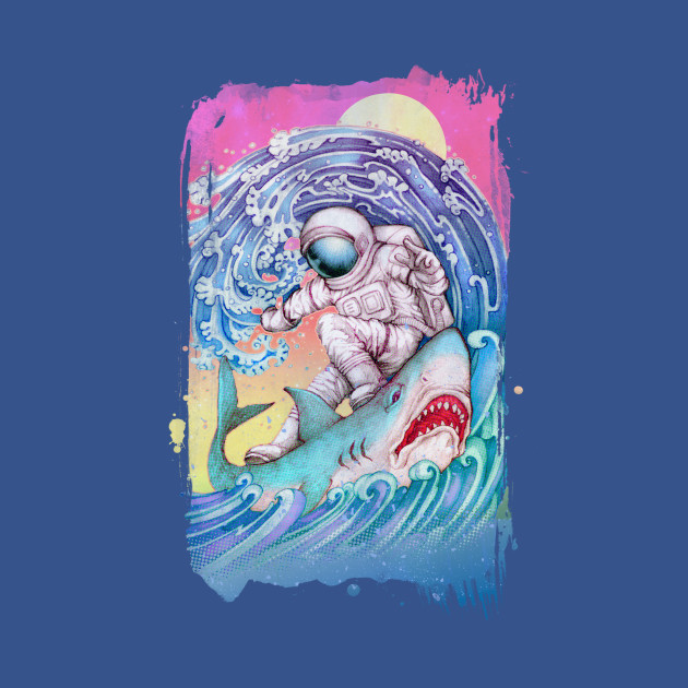 TeePublic: Shark Surfer