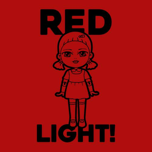 Five Finger Tees: Red Light! T-Shirt