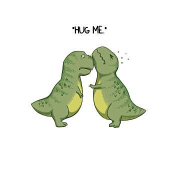 BustedTees: Dinosaurs Hug me