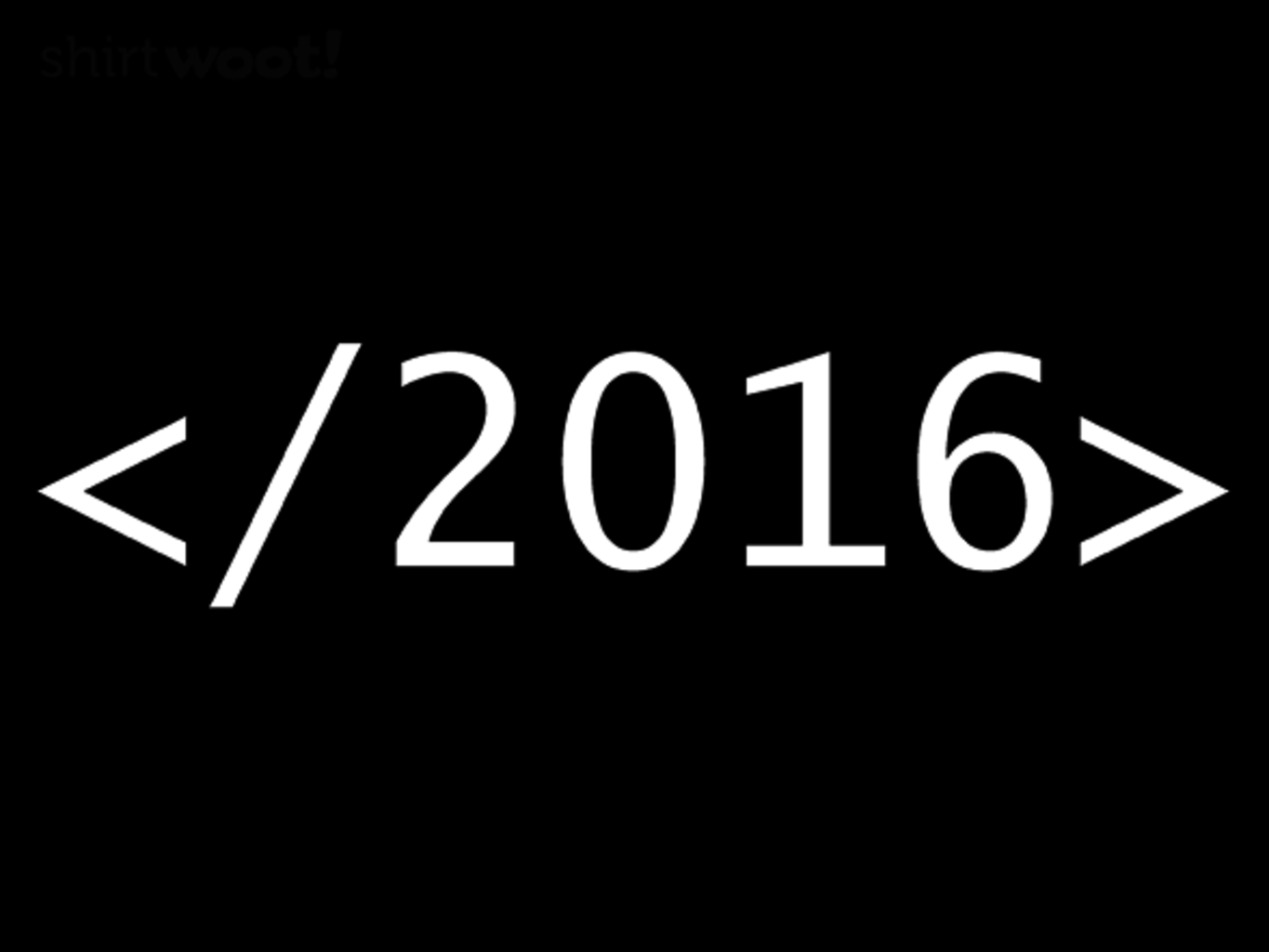 Woot!: End 2016